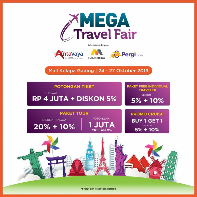 Jadwal dan Info Mega Travel Fair 2019 Mall Kelapa Gading Forum 24-27 Oktober 2019