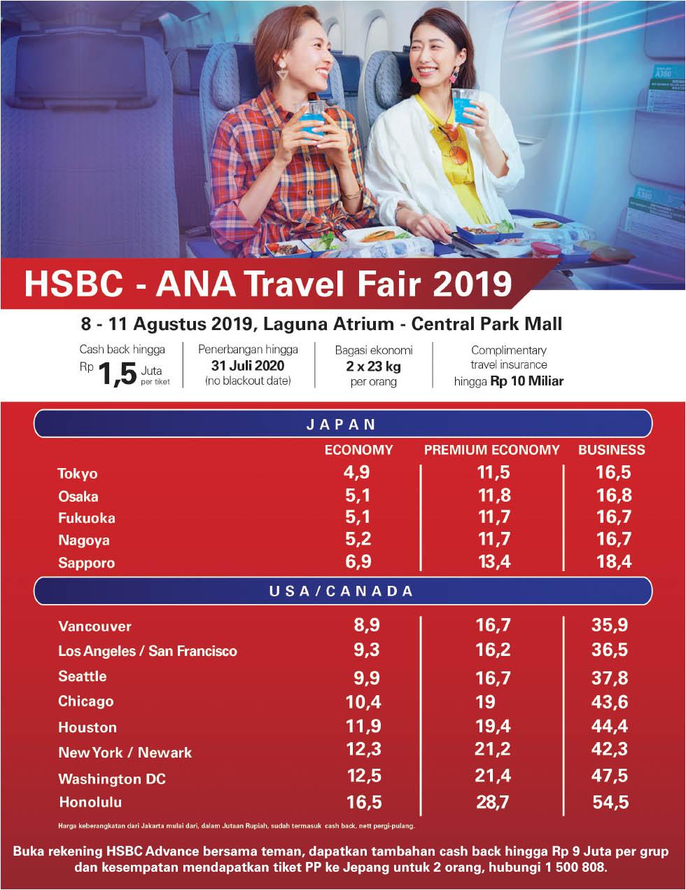 Jadwal Dan Promo Cashback Hsbc Ana Travel Fair 2019 Blog Antavaya
