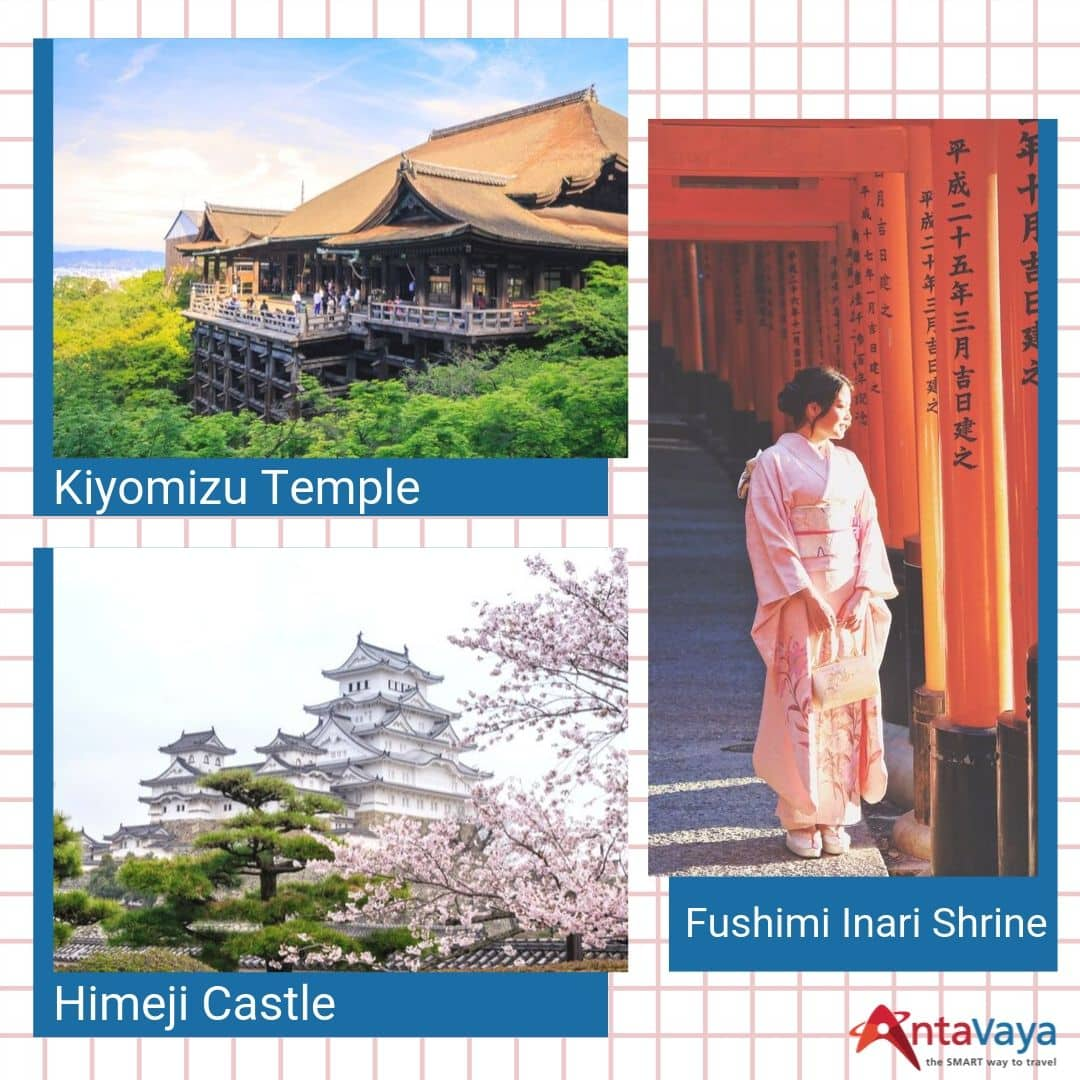 Wisata Sejarah di Jepang Itinerary Liburan 6D4N - Kiyomizu Temple, Himeji Castle, & Fushimi Inari Shrine