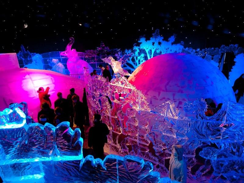 Rekomendasi Kegiatan Seru Saat Winter di Eropa - Festival Musim Dingin Snow and Ice Sculpture Festival Belgia - Sumber Flickr