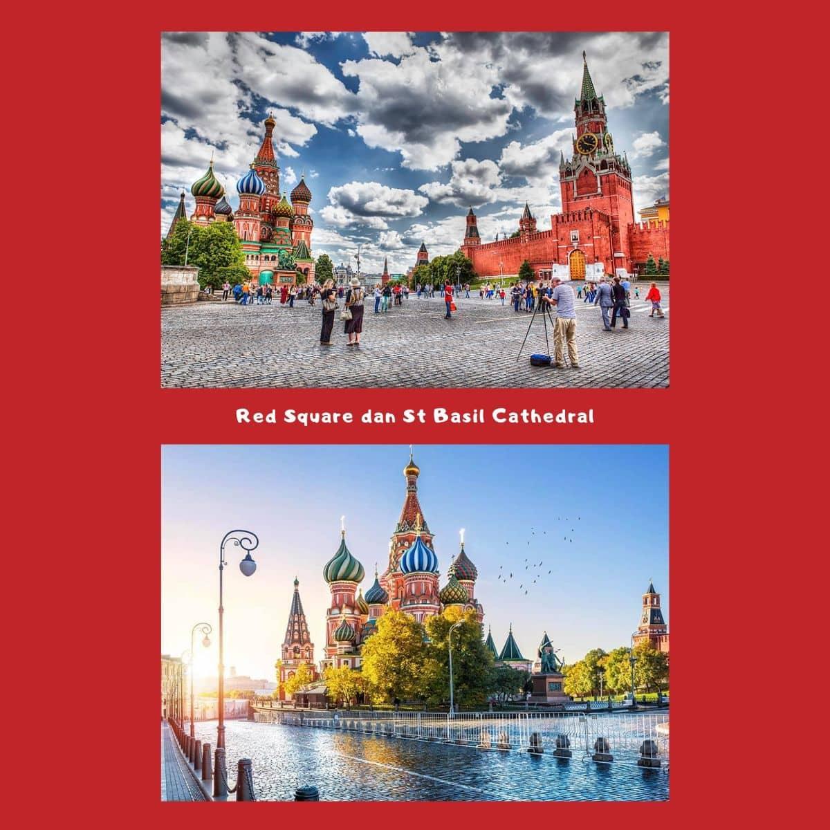 Itinerary Wisata di Rusia Liburan Musim Dingin Selama 10D - Red Square & St Basil Cathedral Moskow - Sumber Wikimedia