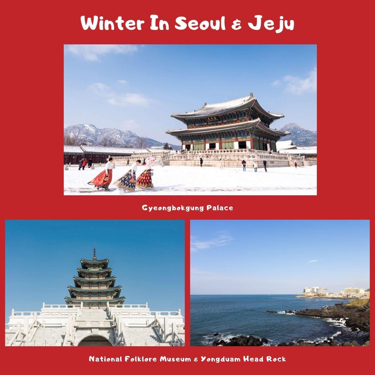 Pengalaman Terindah Liburan Musim Dingin + Ski di Korea - Gyeongbokgung Palace, National Folklore Museum, Yongduam Head Rock - Sumber Freepik & Flickr
