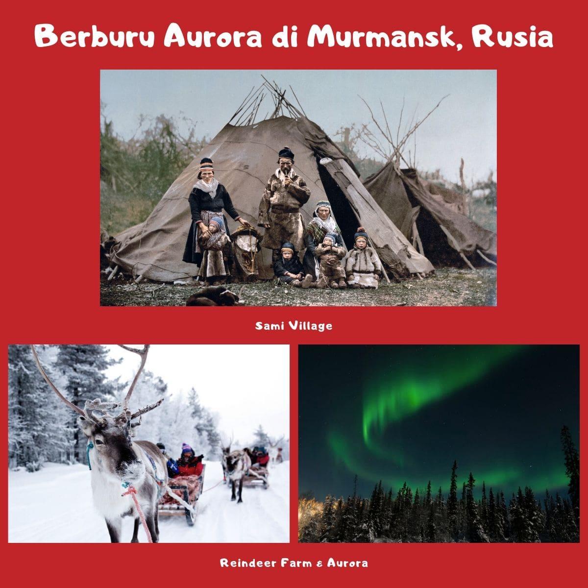 Rekomendasi Wisata Menarik di Murmansk Rusia untuk Liburan Musim Dingin - Sami Village, Reindeer Sleigh, & Aurora - Sumber Wikipedia