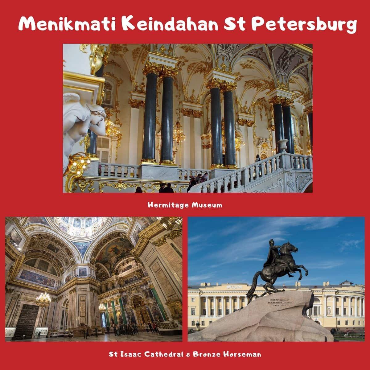 Rekomendasi Wisata di St Petersburg - Hermitage Museum, St Isaac Cathedral, & Bronze Horseman - Sumber Pixabay, Wikipedia, & Wikimedia