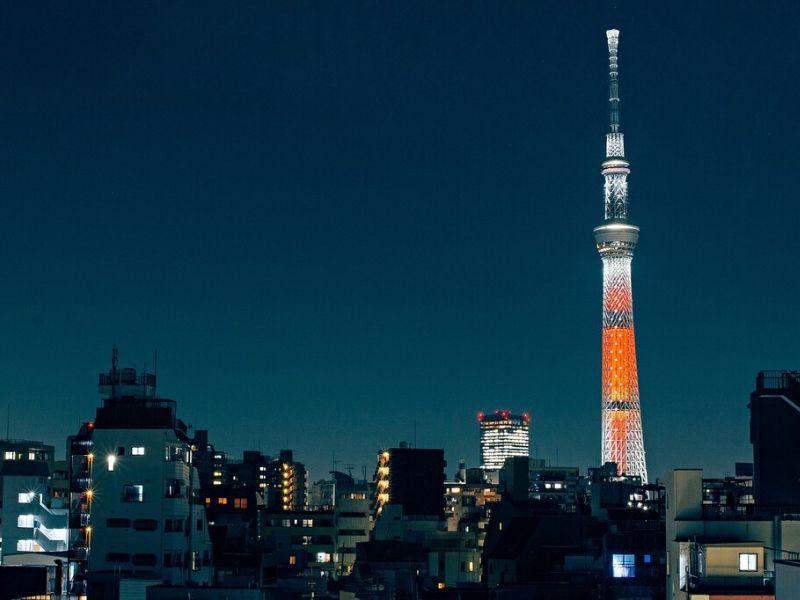 Tokyo Skytree di Musim Sakura Jepang