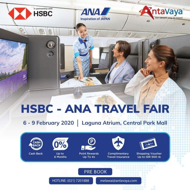Promo dan Jadwal HSBC-ANA Travel Fair 2020