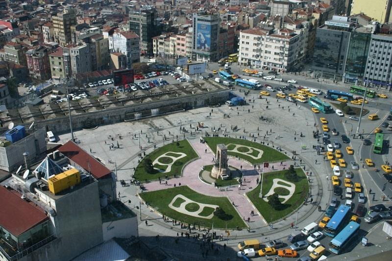 Tempat Wisata Turki - Taksim Square - Wikimedia