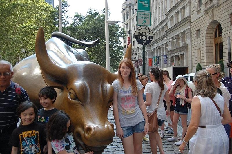 Tempat Wisata di New York - Wall Street Bull - Sumber Wikimedia