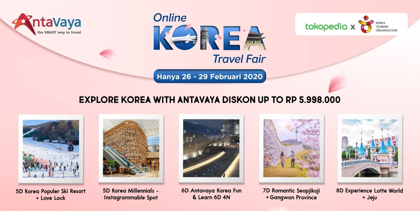 Korea Online Travel Fair 2020 Diskon Paket Tour Korea Up To 5,9 Juta!