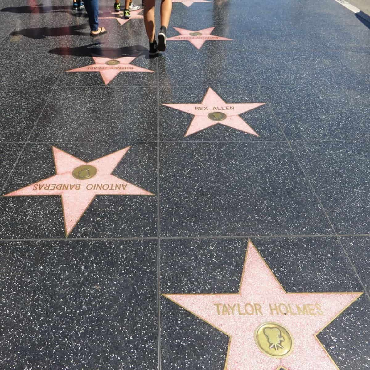Day 8 Itinerary Liburan Amerika - Hollywood Walk of Fame