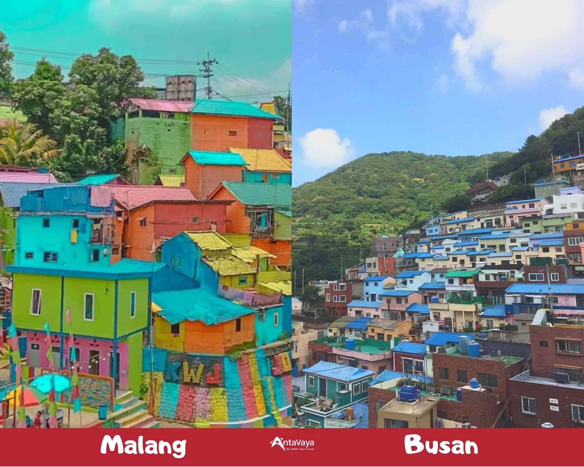 Spot Destinasi Indonesia Mirip Luar Negeri - Sumber Instagram nanik.setiawati dan gamcheonculturevillage