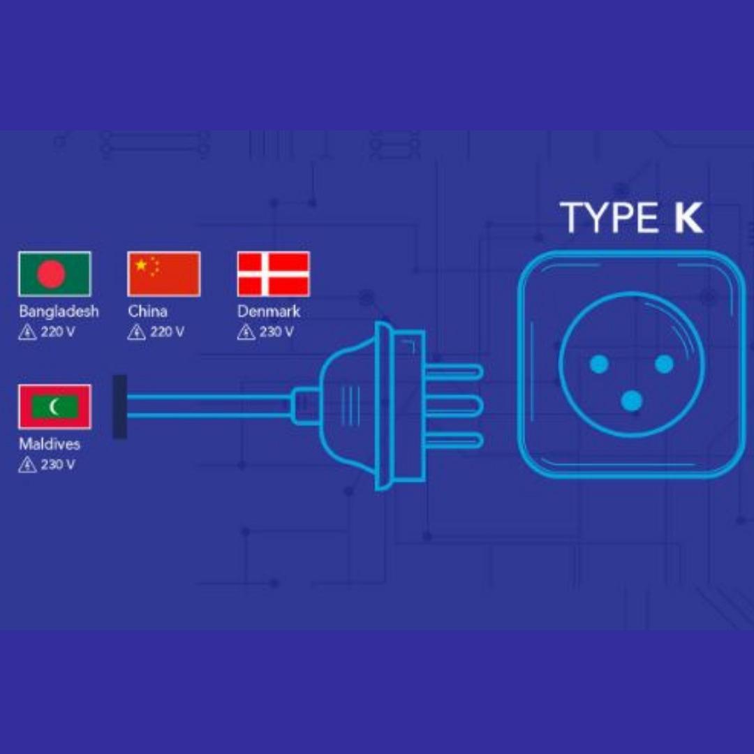 Model Colokan Listrik di Seluruh Dunia Tipe K