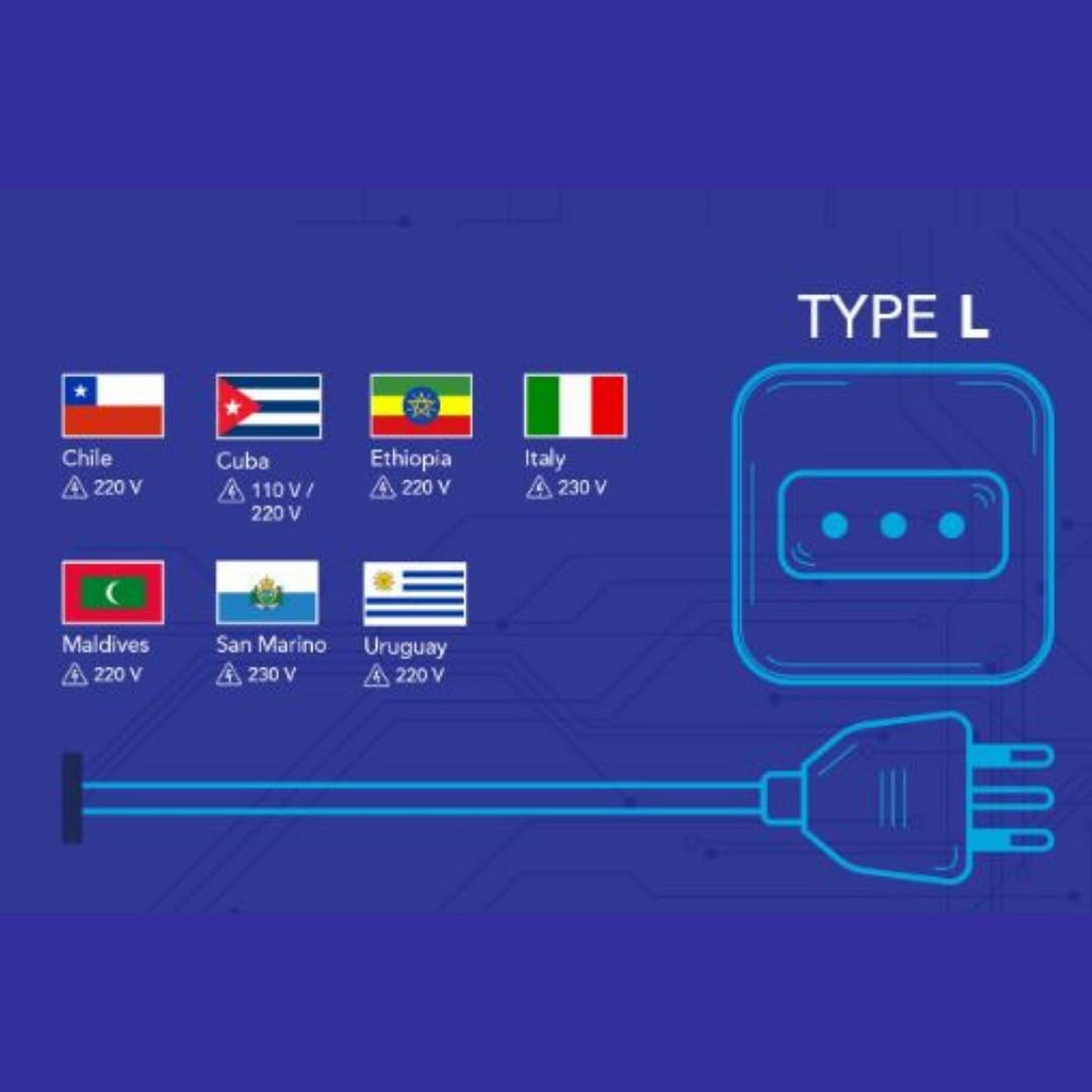 Model Colokan Listrik di Seluruh Dunia Tipe L